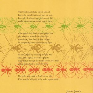 Stridulation Sonnet by Jessica Jacobs