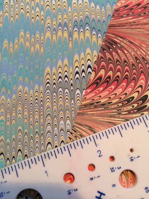 Miniature Marbling: the right size for small scale projects