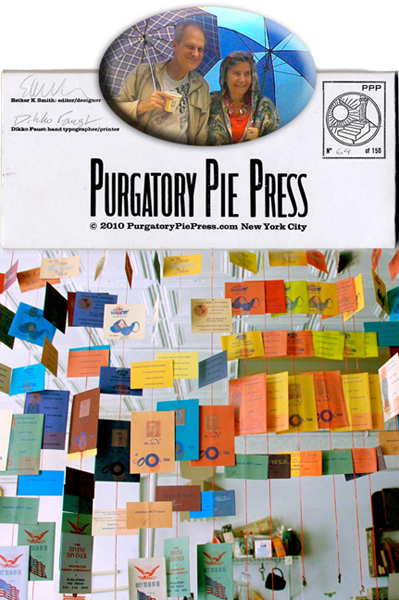 Esther K Smith and Dikko Faust of Purgatory Pie Press