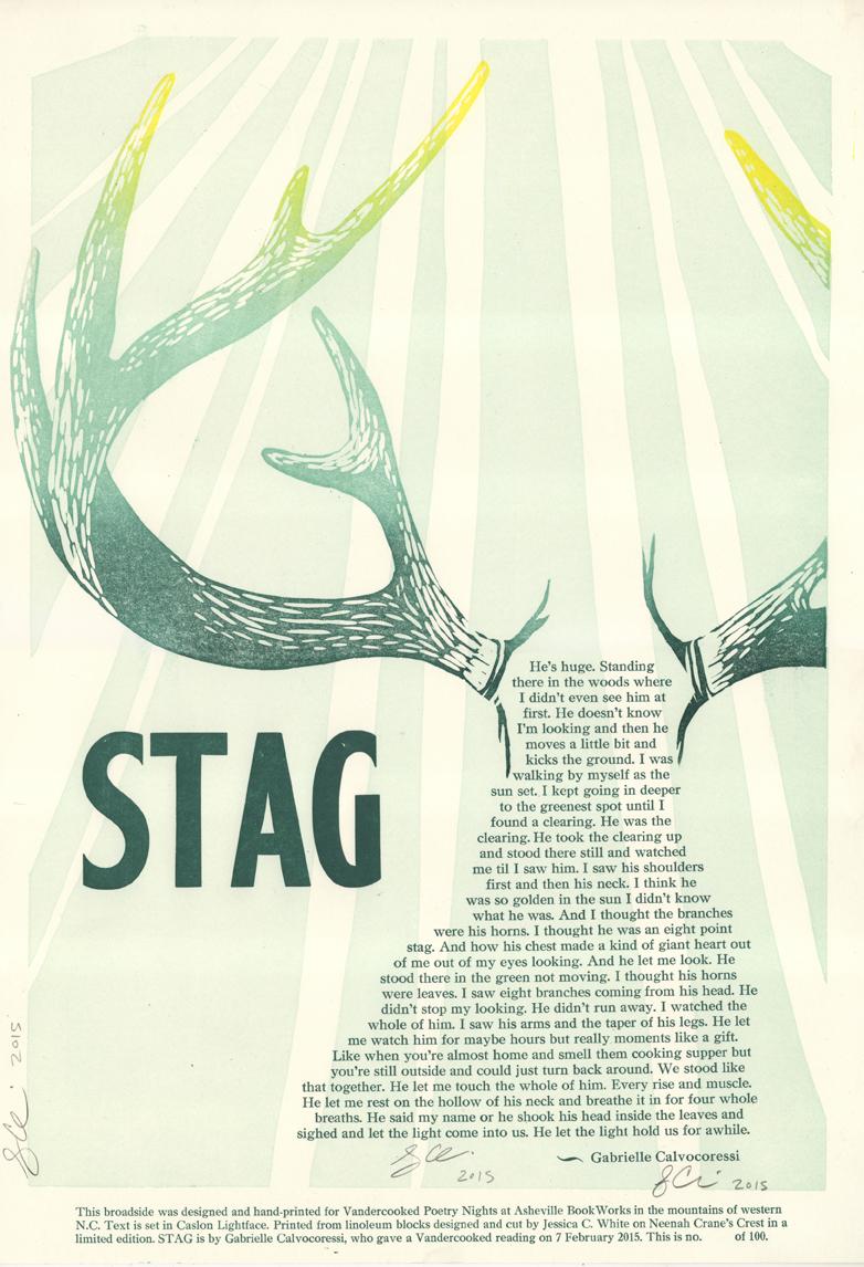 Stag by Gabrielle Calvocoressi